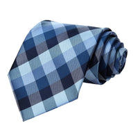 Coordinated Tie Set / Multi-Blue Check