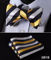 Men's Silk Bow Tie Sets - Six Color Options