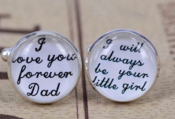Wedding Cufflinks - Daughter to Father