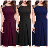 Sleeveless Scoop Neck Formal Dress, Sizes Small - XLarge