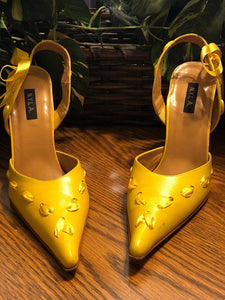 N.Y.L.A. Yellow Ribboned Heels - US Size 9M