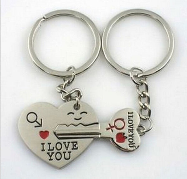 "Couples Lock and Key ""I Love You"" Key Chain"