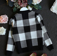 Knitted Sweater Top and Skirt Children's Set, Sizes 2T - 6T, Black & White Check
