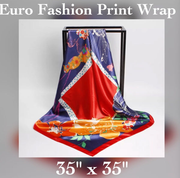 ✨Satin Floral Printed Wrap / Shawl