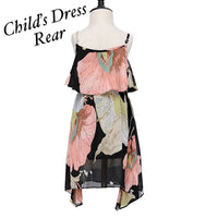 Mommy & Me Chiffon Shoulder Strap Dress & Blouse (Blouse for Mommy, Dress for Me)