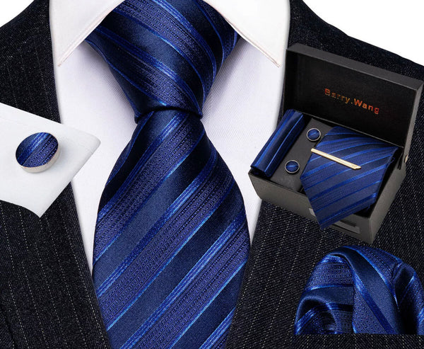 Coordinated Men's Silk Tie Set with Gift Box