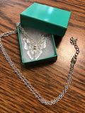 Silver Plated Butterfly Pendant and Chain
