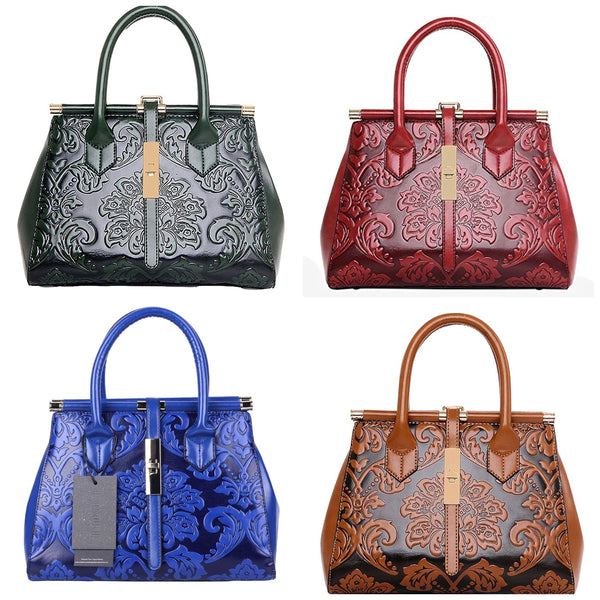 Women's Fashion Mandarin Style Elegant Empaistic Top Handle Shoulder Bag