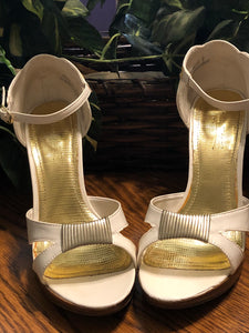 Lovely Embroidered 4-Inch Heels, US Size 9