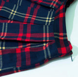 A-Line Printed Flared Midi Skirts, Red Plaid, Sizes XSmall - 3XLarge