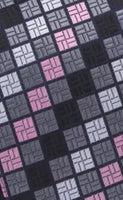 Men's Silk Coordinated Tie Set - Black, Gray, Pink, White Squared