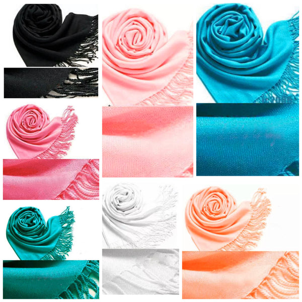 Beautiful Solid Color Pashmina Shawls