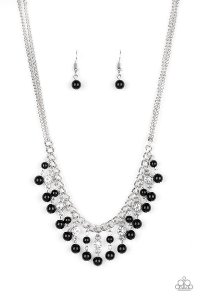 Regal Refinement - Black, Necklace & Earring Set