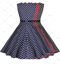 ✨Vintage Inspired Polka Dot Swing Dress - Black, Blue or Red (Sizes 4 - 18)