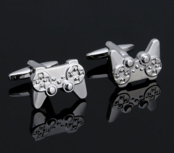 Silver Game Console Cuff Links