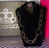 Perfect Mismatch Copper Necklace & Earring Set