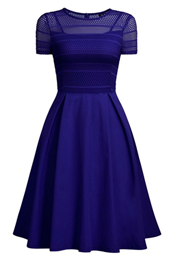 Pleated Net Cocktail Dress, US Sizes 4 - 20