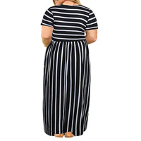 Casual Loose Plus Size Maxi Dress, US Sizes 14 Plus - 26 Plus