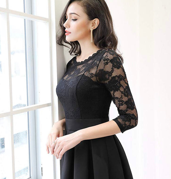 Women's Vintage Inspired Lace Top Dress, Sizes Small - 2XLarge (US Sizes 4 - 18)