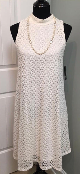 ✨New Directions Lace Trapeze Dress, Size Large