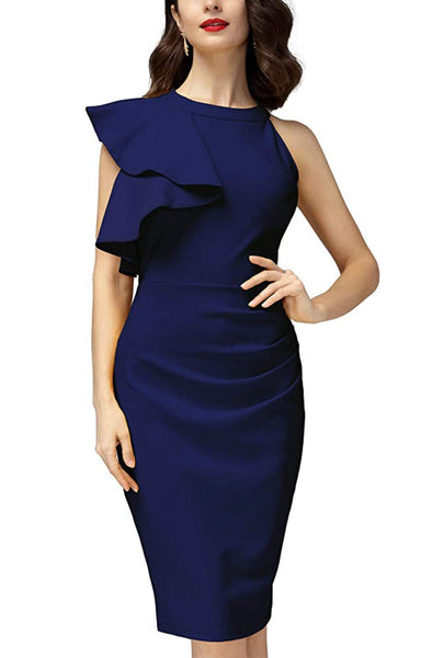 Women's Business Wear Dress, US sizes 4 - 18 (Navy Blue)