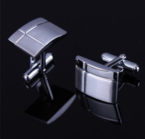 Gentlemen Silver French Shirt Cuff Links