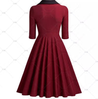 Black Collared Cocktail Dress, US Sizes 4 - 14