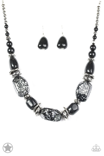 In Good Glazes - Black, Earring & Necklace Set