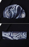 Men's Silk Coordinated Tie Set - Blue Paisley
