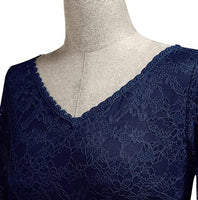 V-Neck Floral Lace Dress, US Sizes 4 - 18