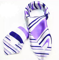 ✨Silk Look Satin Scarf - Purple & White