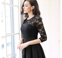 Floral Lace 2/3 Sleeve Dress, Sizes Small - 2XLarge (US 4 - 18)