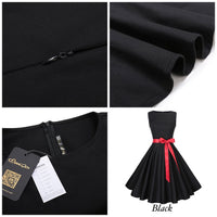 Audrey Hepburn Inspired Swing Dress, US Sizes 0 - 18W, Black
