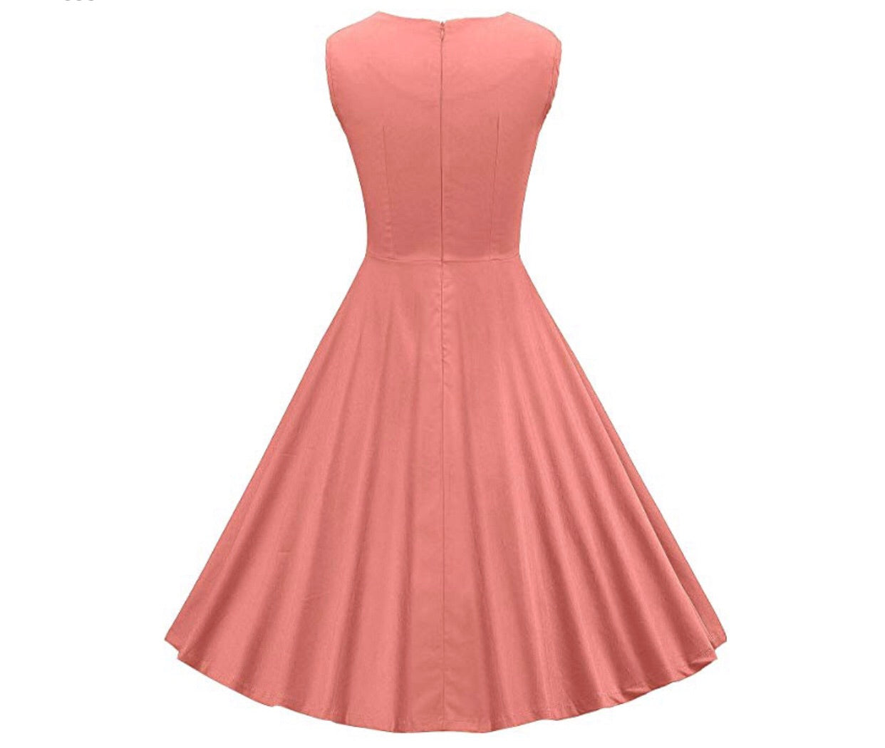 1e46d55bcf4c ... Classy Audrey Hepburn Style 1950s Vintage Rockabilly Swing Dress, Sizes  Small - 2XLarge (Peach ...