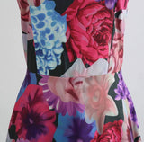 Retro Inspired Floral Swing Dress, Sizes Small - 2XLarge