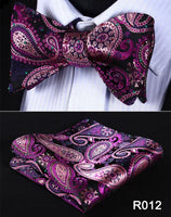 Men's Coordinated Bow Tie Set - Purple Paisley