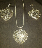 Silver Plated Earrings & Necklace Set