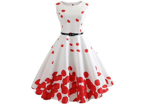 Retro Inspired Petals Swing Dress, Sizes Small - 2XLarge