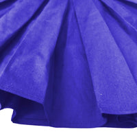 Pleated Midi Skirts, Royal Blue,  Sizes XSmall - 3XLarge