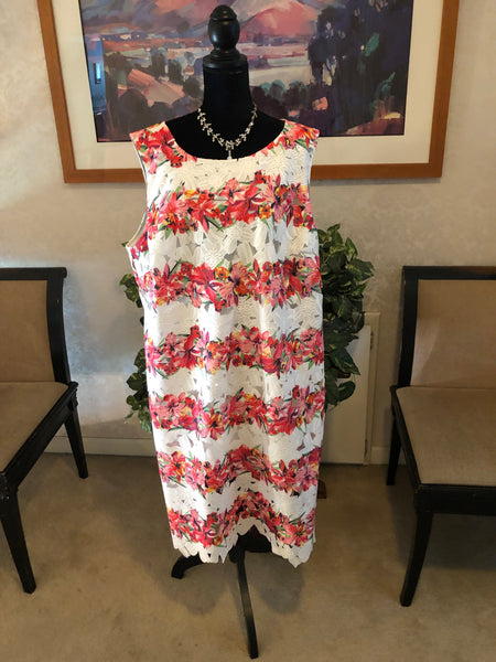 Brand New Julia Jordan Embroidered Dress, US Size 24W