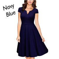 V-Neck Cocktail Dress, Sizes Small - 2XLarge