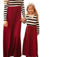 Mommy & Me Maxi Dress, Child Size 2T - 7, Mom US Size 8 - 14