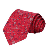 Men's Silk Coordinated Tie Set - Gray Re Floral