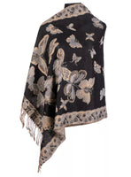 Reversible Pashmina Butterfly Print Shawls