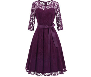 Elegant Floral Lace Dresses, Sizes Small - 3XLarge