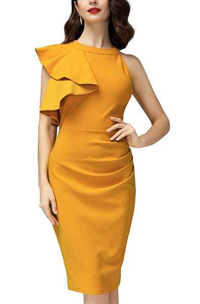 Women's Business Wear Dress, US sizes 4 - 18 (Yellow)