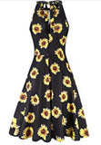Halter Neck Floral Sundress, Sizes Small - XLarge