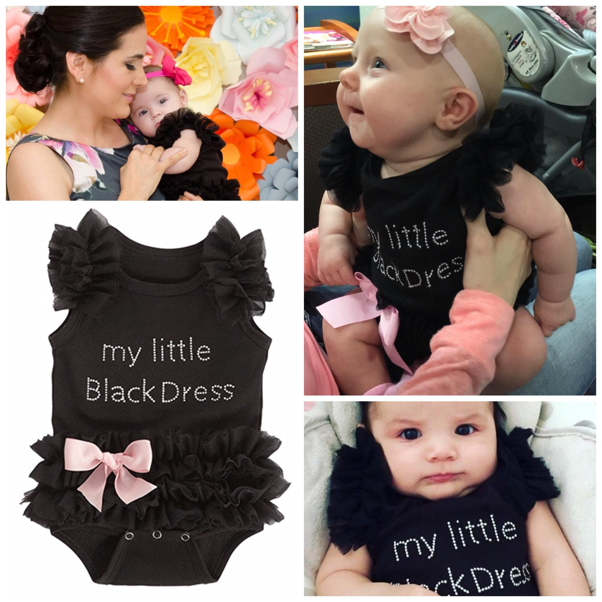 7e4be11f5 Baby Girls Embroidered Little Black Dress Bodysuit – Uylee s Boutique