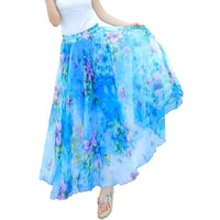 Ankle Length Chiffon Skirt, Sizes Small - 3XLarge