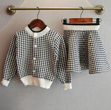 Knitted Sweater Top and Skirt Children's Set, Sizes 2T - 6T, Plaid